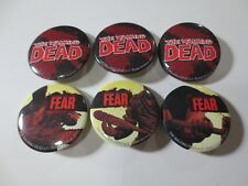 Lot of 6 2012 The WALKING DEAD TV Show Comic Book Collector Pin Buttons (J105)