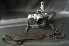 Italian Leather Camera Neck big Shoulder Strap leica nikon contax DARK BROWN