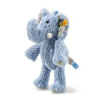 Steiff 064876 Soft Cuddly Friend Elephant Earz Blue 7 7/8in Incl Gift Packaging