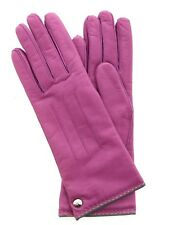 Coach Women's Cashmere Lined Leather Gloves Pink Rose Size 6.5 / 82821