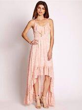 GUESS Women's Sleeveless Chameleon Camouflage High-Low Dress - Melon sz XS