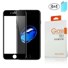 3X Nacodex For Apple iPhone 8 3D Full Cover Tempered Glass Screen Protector