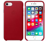 Roja Apple Original Funda Cuero Leather para el iPhone SE / 8 / 7
