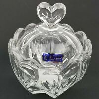 Marquis by Waterford Crystal Candy Heart Bowl Dish Sweet Memories Covered Box