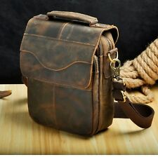Genuine Leather Male Casual Tote Messenger bag Design Satchel Crossbody tablet