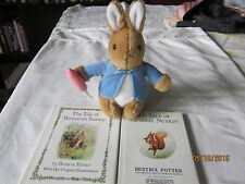 Peter Rabbit Eden Toy Plush and 2 Children's Books