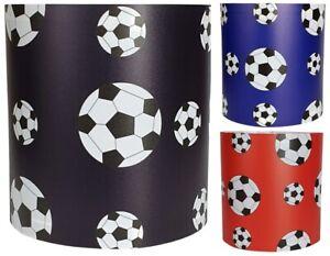 FOOTBALL LIGHT SHADE CEILING WHITE BLACK BLUE RED SPORTS PENDANT LAMP