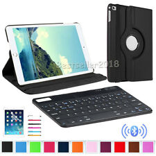 Rotating Leather Folio Stand Case Cover / Bluetooth Keyboard For iPad 2 3 4 9.7""