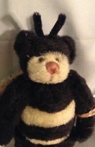 """GANZ COTTAGE COLLECTIBLES by LORRAINE CHIEN """"BUZZ"""" 6 1/4"""" JOINTED BEE BEAR NWT"""