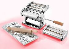 Pasta Maker Machine Imperia Pastaia Italiana Chrome Plated-Spaghetti Tagliatell