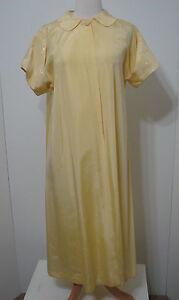 Vintage Dress Coat UCS Studio Stamped Canary Taffeta Light Embroidered Formal