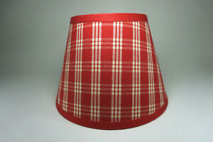Waverly Red Cherry Cranston Plaid Cotton Fabric Lampshade Lamp Shade