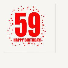 59th BIRTHDAY LUNCHEON NAPKIN 16/pkg Large Napkin Birthday Party Supplies T307