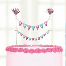 On your Christening Day Pink Cake Picks 23cmx24cm Baby Party Topper Decorations