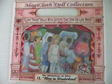 """Magic Cloth """"Paper"""" Dolls Alice in Wonderland 1995 by Schylling #12 New Nrfb"""