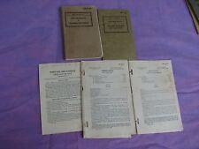 Army Lot: WWII era Soldier Handbook,  Military courtesy etc   ( F2)