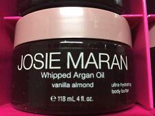 Josie Maran Whipped Argan Oil Body Butter VANILLA ALMOND 4 oz New Sealed