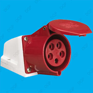 16A IP44 Ceeform 3 Phase 415V 5 Pin Industrial Commercial Heavy Duty Socket
