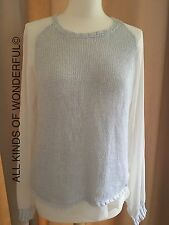 Replay Silver Soft Knit Sweater in Size Large RRP£105 Brand New With Tags