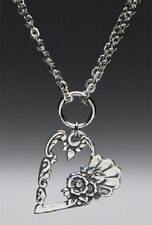 Louise Spoon Heart Necklace w/ Chain by Silver Spoon Jewelry-FABULOUS !