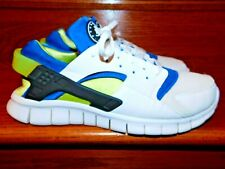 Nike Huarache Free Run 510801-101 White Solar Cyber Men Size 12