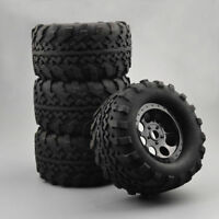 4Pcs Bigfoot Rubber Tires&Wheels 17mm Hex For 1/8 RC Truck TM E5 E63 Traxxas Car