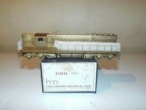 HALLMARK MODELS HO BRASS SD-7 POWERED IN ORG.BOX COMPLETE SERVICE DONE NR