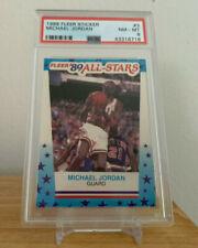 1989 Fleer Sticker #3 MICHAEL JORDAN - PSA 8 (NM-MT) CHICAGO BULLS