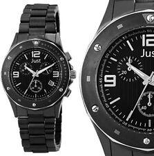 Herren Armbanduhr Chronograph Schwarz Keramik Edelstahl JU20096 JUST 199,90€ UVP