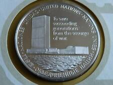 Lot 6 39mm silver proof silver medal United Nations