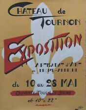 """""""EXPO ARTISANAT d'ART TOURNON 1961"""" Maquette gouache s/papier originale GAILLOD"""