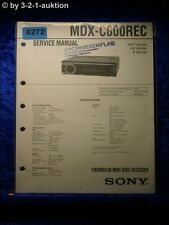 Sony Service Manual MDS C800REC Mini Disc Deck (#6272)