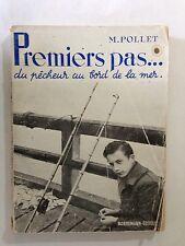 PREMIERS PAS DU PECHEUR AU BORD DE LA MER 1954 POLLET PECHE