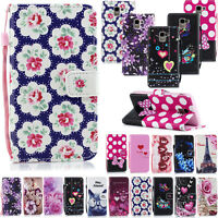 Men Women Leather Wallet Flip Cover Case For Samsung Galaxy J4 J6 J8 A6 Note 9