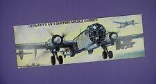 Airfix Negozio Pubblicità CARD 1970 S-HEINKEL HE 177 dolore A/S MISSILE vettore