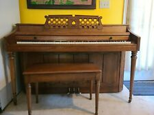 """Wurlitzer Accoustic Spinet Piano and Bench (Height: 36"""", Width: 56"""", Depth: 24"""")"""