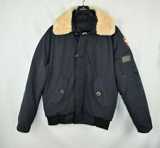 NWOT New Canada Goose Foxe Navy Bomber Jacket Men's Large L Shearling Collar