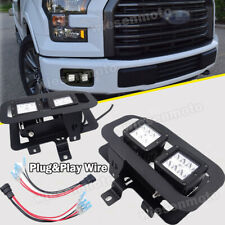FIT 15-17 Ford F150 Pickup 24W LED Fog Light Pod Lower Bumper Plug&Play Wire Kit