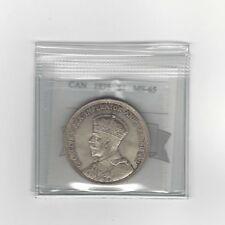**1935**, Coin Mart Graded Canadian Silver Dollar **MS-65**
