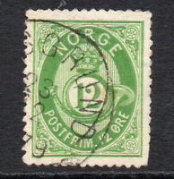 Norway 12 Ore  Stamp c1877-78 Used (883)