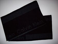 Calvin Klein Scarf Knit Mens Winter Dress Warm Muffler Black Signature OSFM  NWT