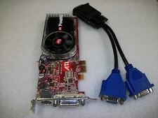 ATI FireMV 2250 256MB DDR2 PCI-Express x1 Graphics Video Card Dual Monitor VGA