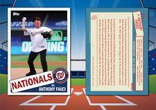 1985 Topps Style DR. ANTHONY FAUCI Custom Artist Novelty Baseball Card