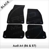 Audi A4 Avant Estate B6 2001-2005 Tailored Carpet Car Floor Mats BLACK