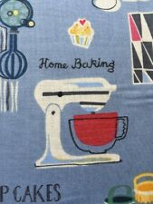 RPA109A Retro Kitchen Home Mixer Recipes Cooking Baking Cotton Quilting Fabric