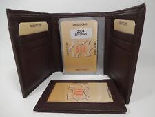 Western Express Brown Premium Leather Men's Tri-fold Wallet-#MIN-2304/BR