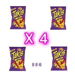 Takis Fuego Hot Chilli Crunchy Crisps Snacks Chips American USA Import 55G Packs