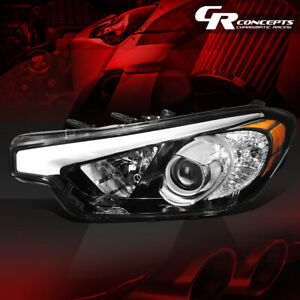 LEFT SIDE FACTORY STYLE PROJECTOR HEADLIGHT ASSEMBLY FOR 2014-2016 FORTE KOUP