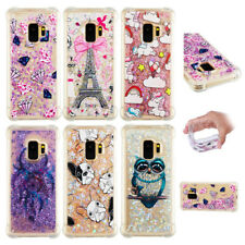 Heart Shape Bling Glitter Running Sand Liquid Dynamic TPU Case For Samsung Phone