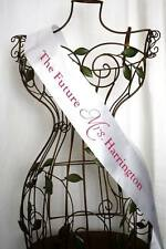 HENS NIGHT BRIDAL SHOWER PERSONALISED SASH - 1 SIDED PRINT